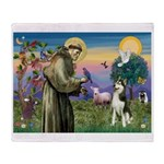 St Francis & Husky Throw Blanket