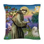 St. Fran #2 / Tibetan Terrier Woven Throw Pillow