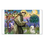 St. Fran #2 / Tibetan Terrier Sticker (Rectangle)