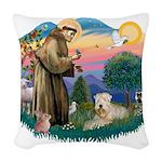 St Francis #2 / Wheaten Woven Throw Pillow