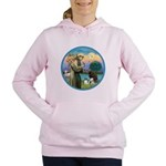 St Francis/3 dogs Women's Hooded Sweatshirt