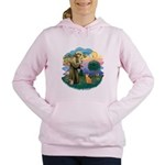 StFran(f)-Abyssin. (rd) Women's Hooded Sweatshirt