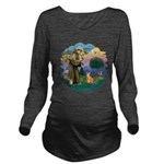 StFran(f)-Abyssin. (rd) Long Sleeve Maternity T-Sh