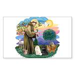 St. Fran (ff) - 3 Persian Cat Sticker (Rectangle)
