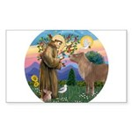 R-St Francis-ShetlandPONY.png Sticker (Rectangle 1