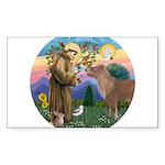 R-St Francis-ShetlandPONY.png Sticker (Rectangle)