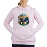 StFrancis-ff-7 cats-BorderCollie.png Women's Hoode