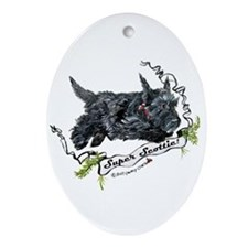 Super Scottih Terrier Oval Ornament