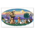 St. Fran (Ov)-Dogs-Cats-Hrs Sticker (Rectangle 10