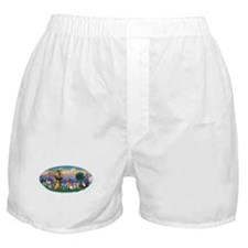 St. Fran (Ov)-Dogs-Cats-Hrs Boxer Shorts