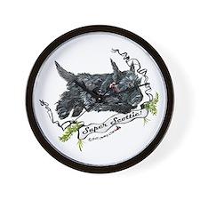 Super Scottih Terrier Wall Clock