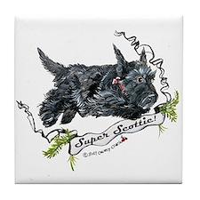 Super Scottih Terrier Tile Coaster