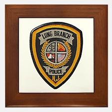 Long Branch Police Framed Tile