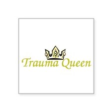 "Funny Trauma rn Square Sticker 3"" x 3"""
