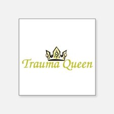 "Cute Trauma junkie Square Sticker 3"" x 3"""