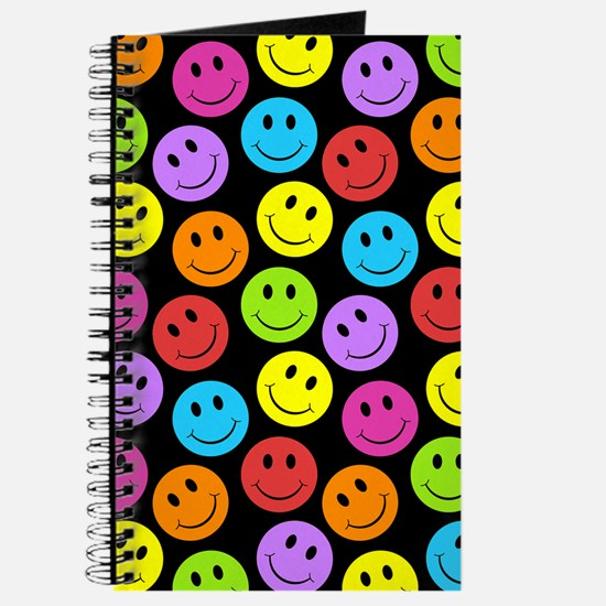 Happy Colorful Smiley Faces Pattern Journal