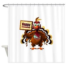 HappyThanksgiving Shower Curtain