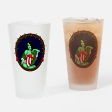 *DECEMBER* Pinup Ghoul 2015 Drinking Glass
