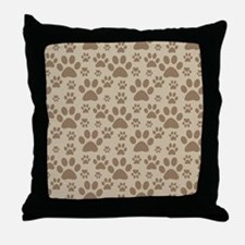 Dog / Cat Paw Prints Throw Pillow