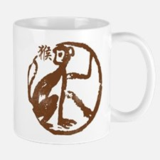 Chinese Zodiac Monkey Abstract Mug