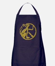 Chinese Zodiac Monkey Abstract Apron (dark)