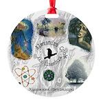 Linandara's art Round Ornament