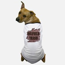 Oilfield Trash Rusted Riveted Metal  Dog T-Shirt