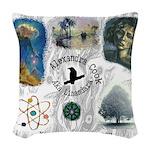 Linandara's art Woven Throw Pillow