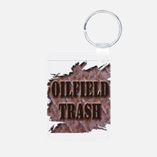 Oilfield Trash Rusted Riveted Metal Keychains