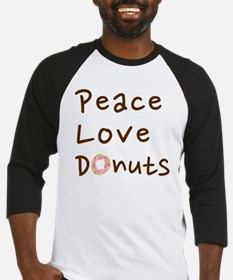 Peace Love and Chocolate Donuts Baseball Jersey