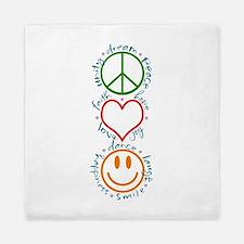 Peace Love Laugh Inspiration Design Queen Duvet