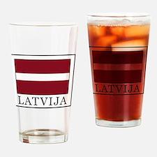 Cute Latvia Drinking Glass