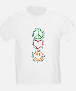 Peace Love Laugh Inspiration Design T-Shirt
