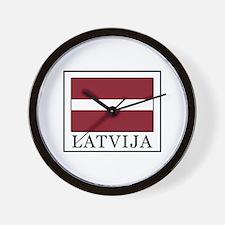 Latvija Wall Clock