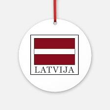 Latvija Round Ornament