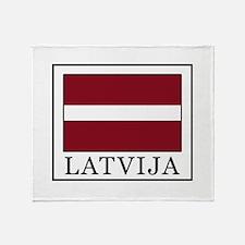 Latvija Throw Blanket