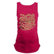 Chinese Zodiac Monkey Papercut Maternity Tank Top