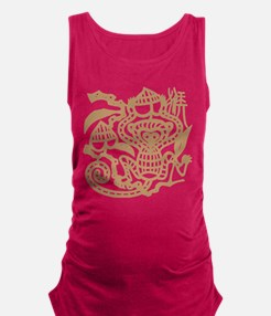 Chinese Zodiac Monkey Papercut Maternity Tank Top