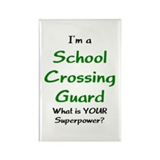 school crossing guard Rectangle Magnet