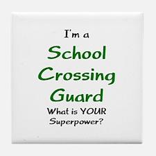 school crossing guard Tile Coaster