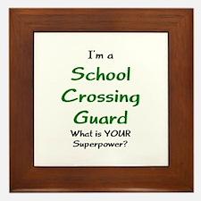 school crossing guard Framed Tile