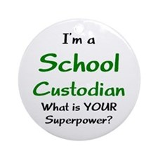 school custodian Ornament (Round)