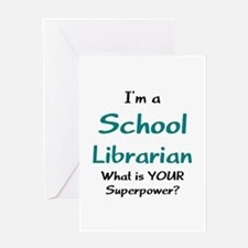 school librarian Greeting Card