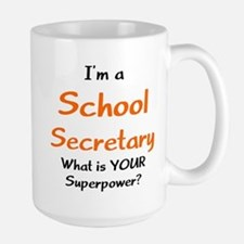 school secretary Large Mug