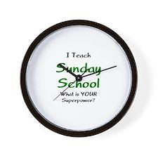 teach sunday school Wall Clock