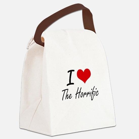 I love The Horrific Canvas Lunch Bag