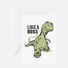 Like a Boss Dinosaur TRex Greeting Cards