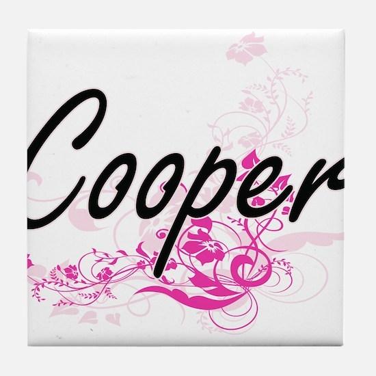 Cooper Artistic Job Design with Flowe Tile Coaster