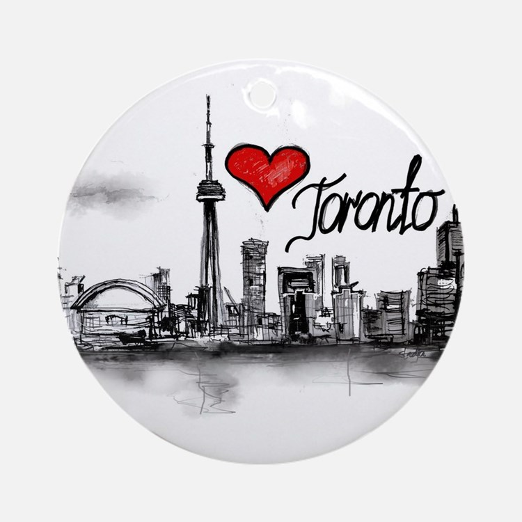 I love Toronto Round Ornament