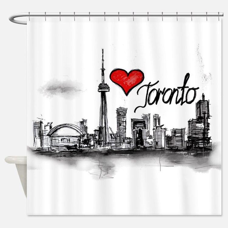 I love Toronto Shower Curtain